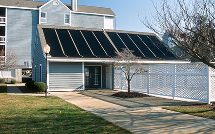 Brigantine, NJ Commercial Solar Pool Heating System Installed At Condo Complex