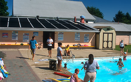 Chalfont, PA Commercial Solar Pool Heating System Installed At A Summer Camp