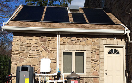 Cranford, NJ Solar Pool Heating System