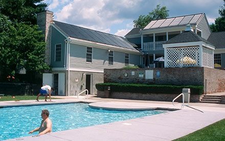 Montville, NJ Commercial Solar Pool Heating System Installed On A Community Pool